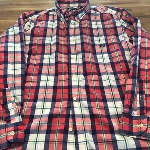 Chap's Men's Plaid Button Shirt Size 2 XL